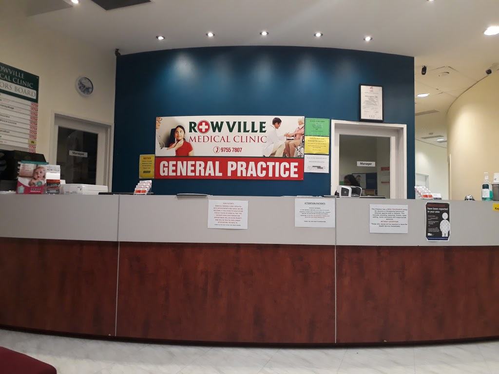 Rowville Medical Clinic   doctor   1/1100 Wellington Rd, Rowville VIC 3178, Australia   0397557807 OR +61 3 9755 7807