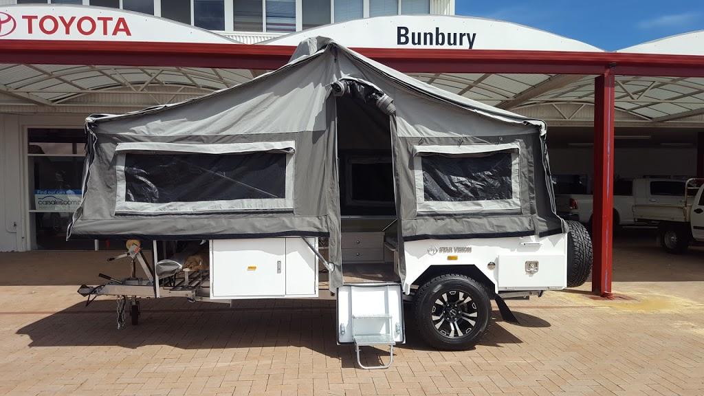 WA Camper Trailers | shopping mall | 30 Spencer St, Bunbury WA 6230, Australia | 0400486390 OR +61 400 486 390