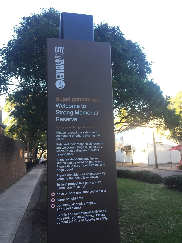 Strong Memorial Reserve   park   Paddington NSW 2021, Australia