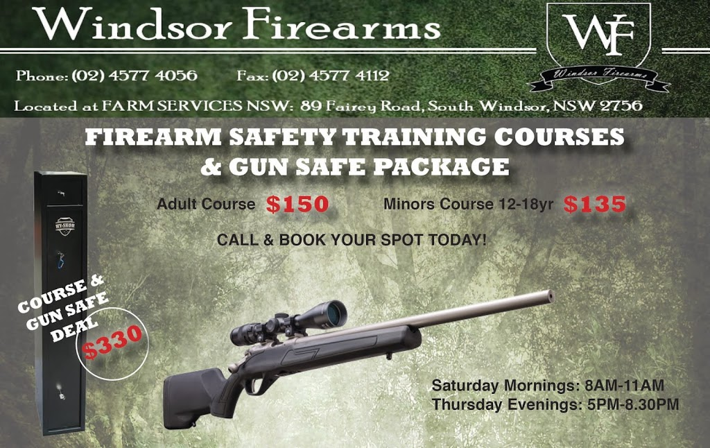 Windsor Firearms Safety Training courses | store | Unit 8/41 Bells Line of Rd, North Richmond NSW 2754, Australia | 1300243308 OR +61 1300 243 308
