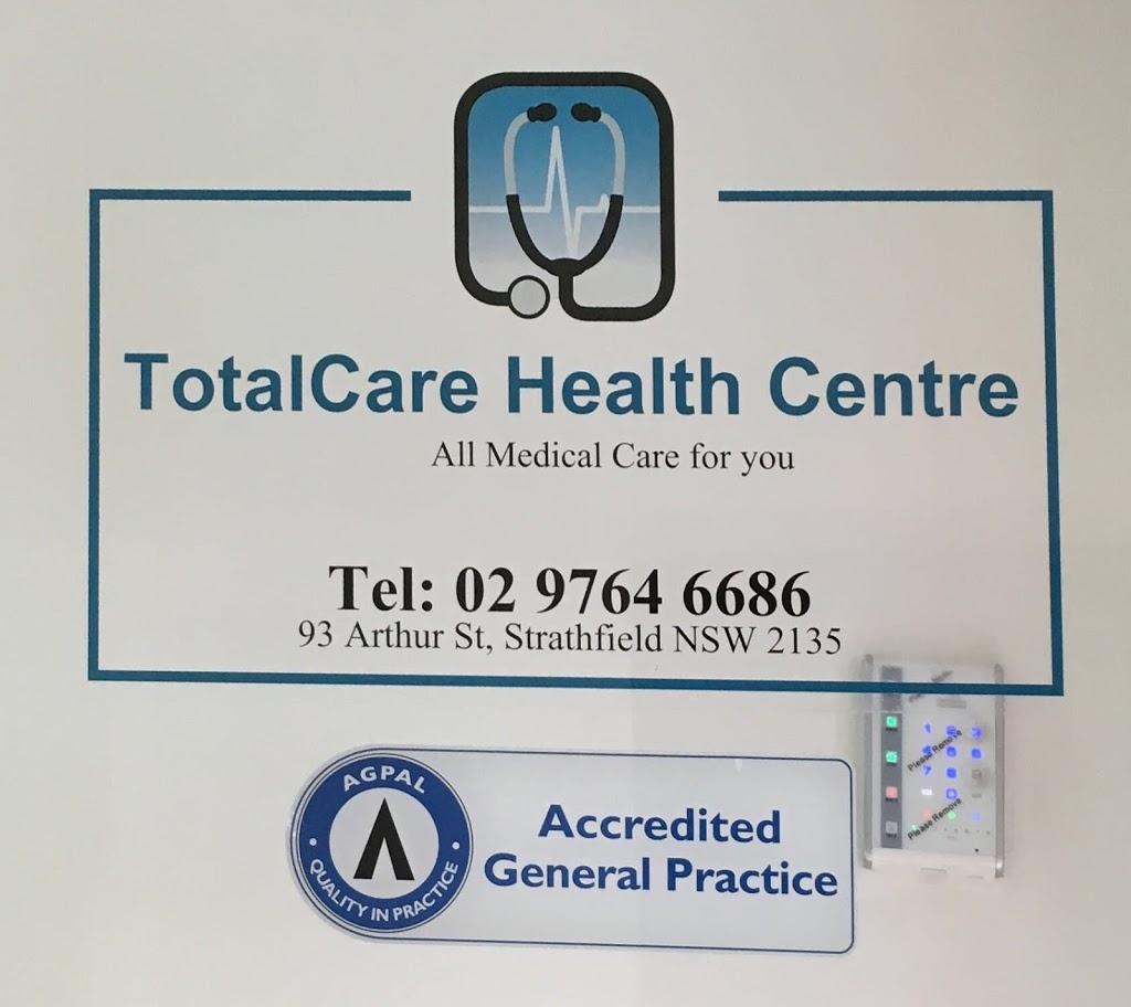 TotalCare Health Centre | health | 93 Arthur St, Strathfield NSW 2135, Australia | 0297646686 OR +61 2 9764 6686