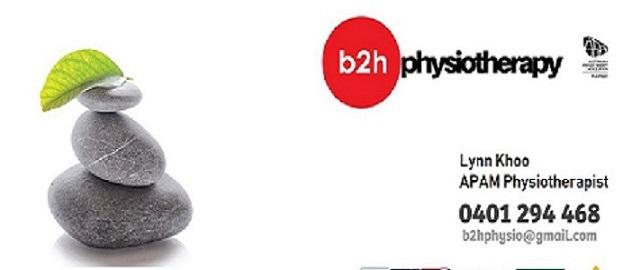 B2H Physiotherapy_Lynn Khoo | physiotherapist | 1/35 Ernest St, Sunshine VIC 3020, Australia | 0401294468 OR +61 401 294 468
