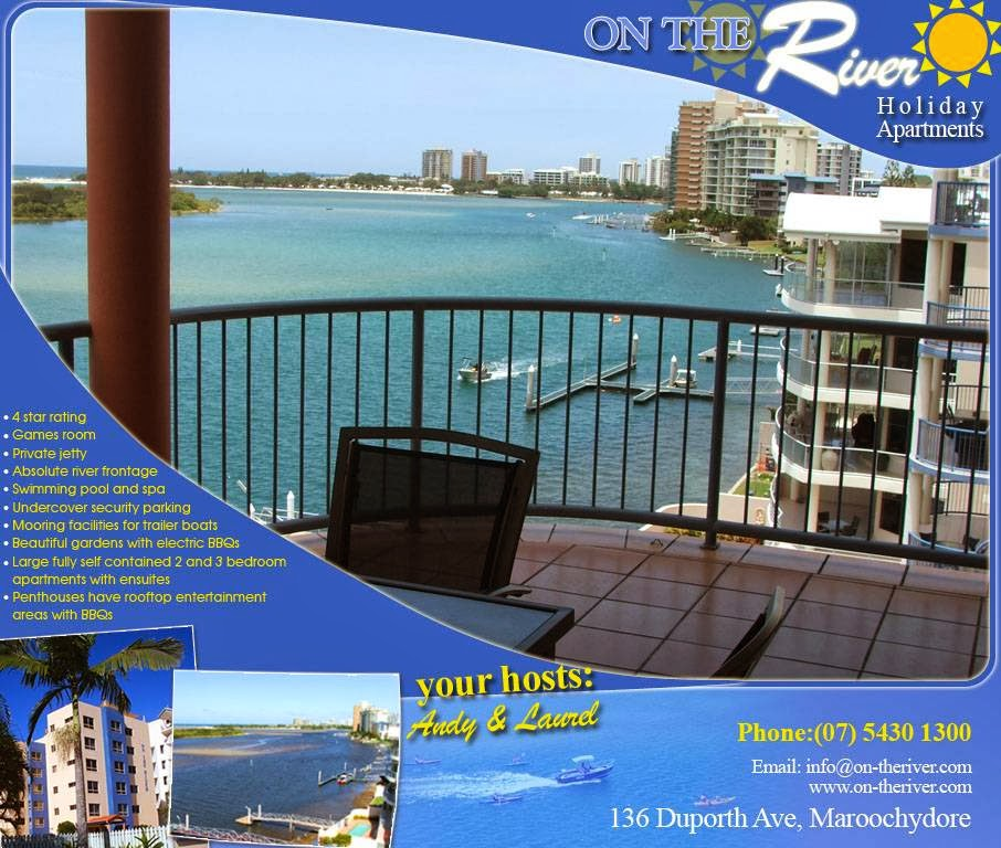 On The River Holiday Apartments | lodging | 136 Duporth Ave, Maroochydore QLD 4558, Australia | 0754301300 OR +61 7 5430 1300