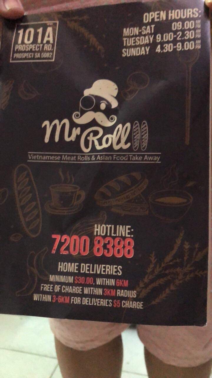 Mr. Roll- Meat Roll and Asian Food Take Away | restaurant | 101A Prospect Rd, Prospect SA 5082, Australia | 0421466949 OR +61 421 466 949