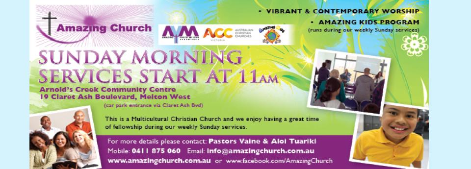 Amazing Church Melton | church | 19 Claret Ash Blvd, Melton West VIC 3337, Australia | 0411875060 OR +61 411 875 060