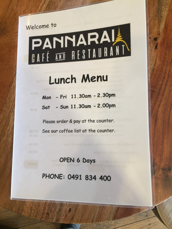 Pannarai - Cafe & Restaurant | restaurant | 38 Moreton Terrace, Dongara WA 6525, Australia | 0491834400 OR +61 491 834 400