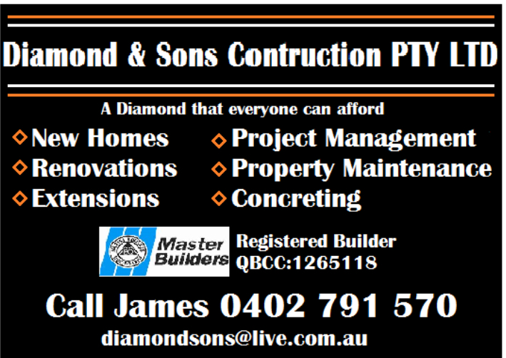 Diamond and Sons Construction Pty Ltd | general contractor | Pumicestone Rd, Caboolture QLD 4510, Australia | 0402791570 OR +61 402 791 570