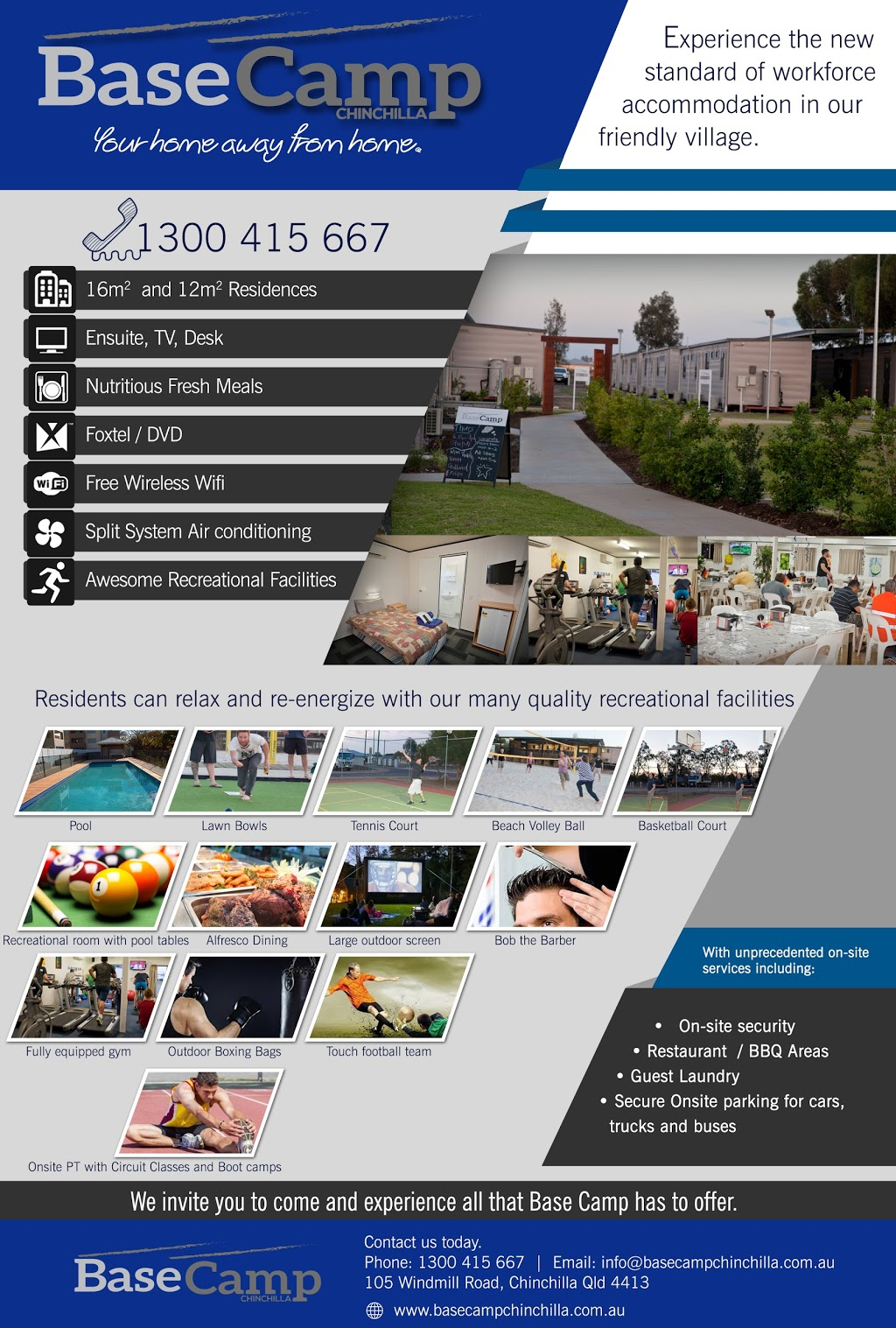 Base Chinchilla | lodging | 105 Windmill Rd, Chinchilla QLD 4413, Australia | 1300415667 OR +61 1300 415 667