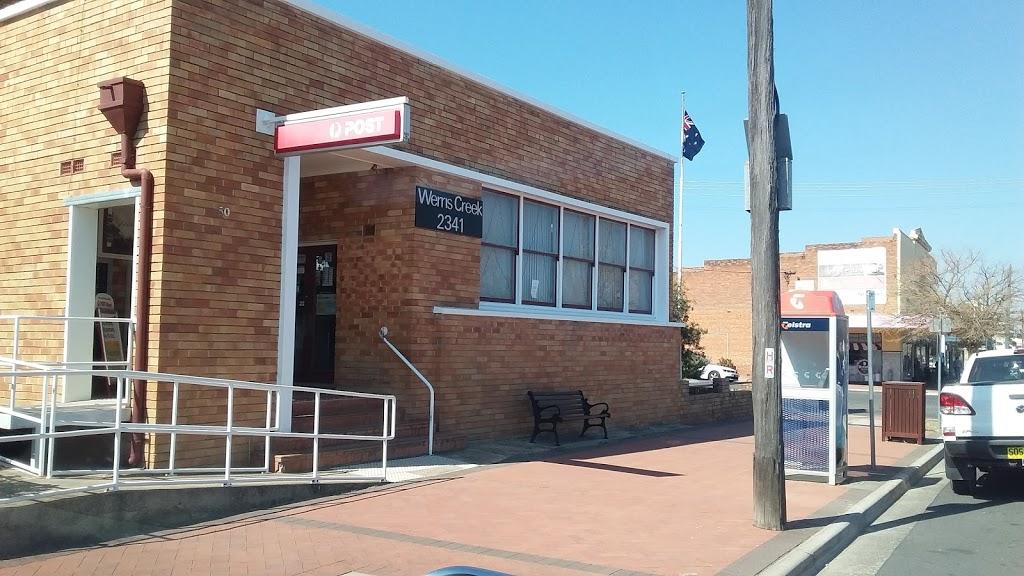 Australia Post - Werris Creek LPO | post office | 50 Single St, Werris Creek NSW 2341, Australia | 0267687099 OR +61 2 6768 7099