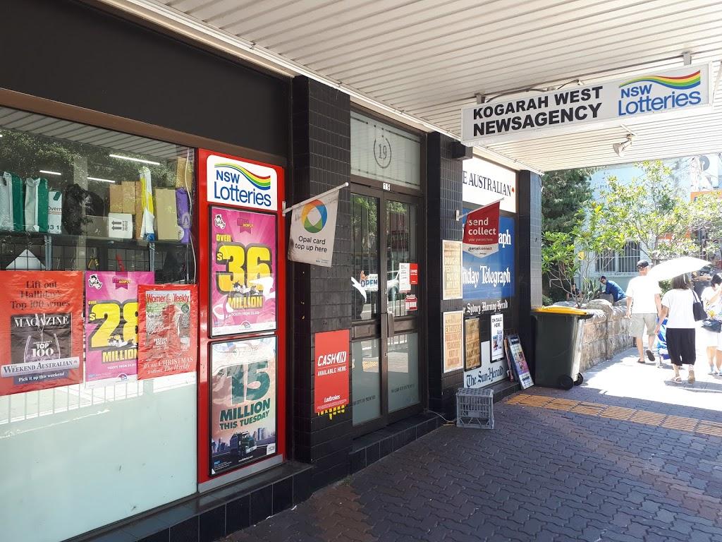 Kogarah West Newsagency | store | 19 Station St, Kogarah NSW 2217, Australia | 0295875114 OR +61 2 9587 5114