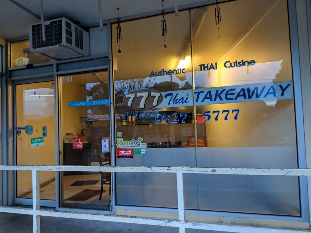 777 Thai Take Away | meal delivery | 2/61 Brice Ave, Mooroolbark VIC 3138, Australia | 0397275777 OR +61 3 9727 5777