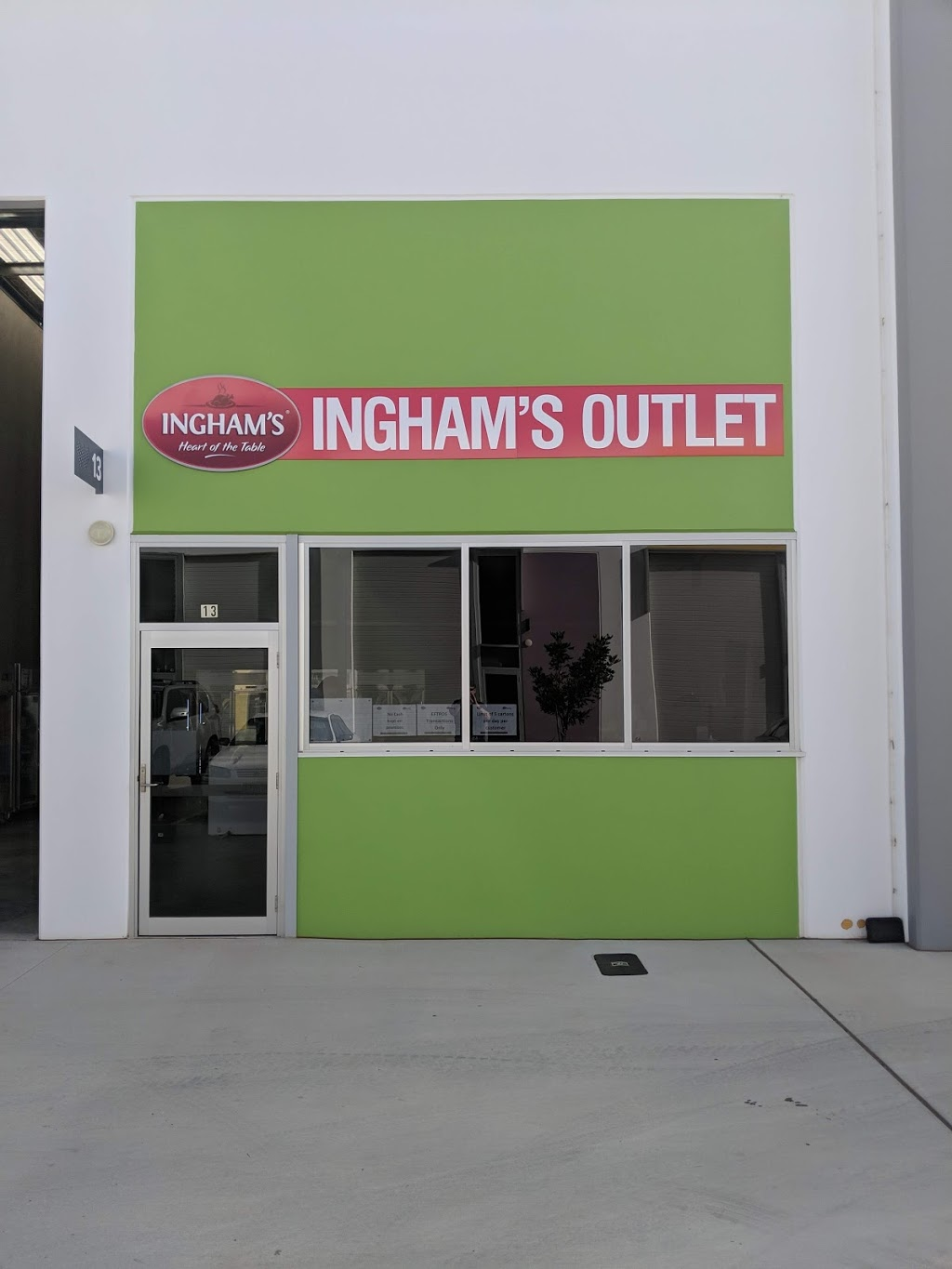 Inghams Factory Outlet | restaurant | 13/51 Industry Pl, Wynnum QLD 4178, Australia | 0730972032 OR +61 7 3097 2032