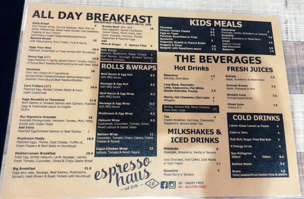Espresso Haus Co. | cafe | 49-51 Wollongong Rd, Arncliffe NSW 2205, Australia | 0295999507 OR +61 2 9599 9507