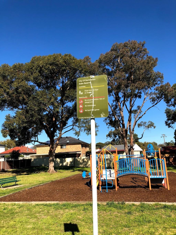 Duke Reserve | park | 9 Duke St, East Hills NSW 2213, Australia | 0297079000 OR +61 2 9707 9000