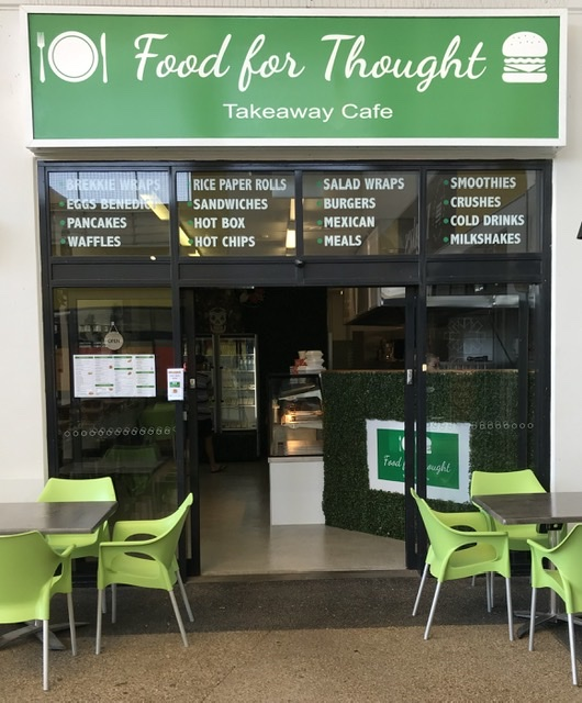 Food for Thought Takeaway Cafe   meal takeaway   Shop 2/85 Sun Valley Rd, Kin Kora QLD 4680, Australia   0460532233 OR +61 460 532 233