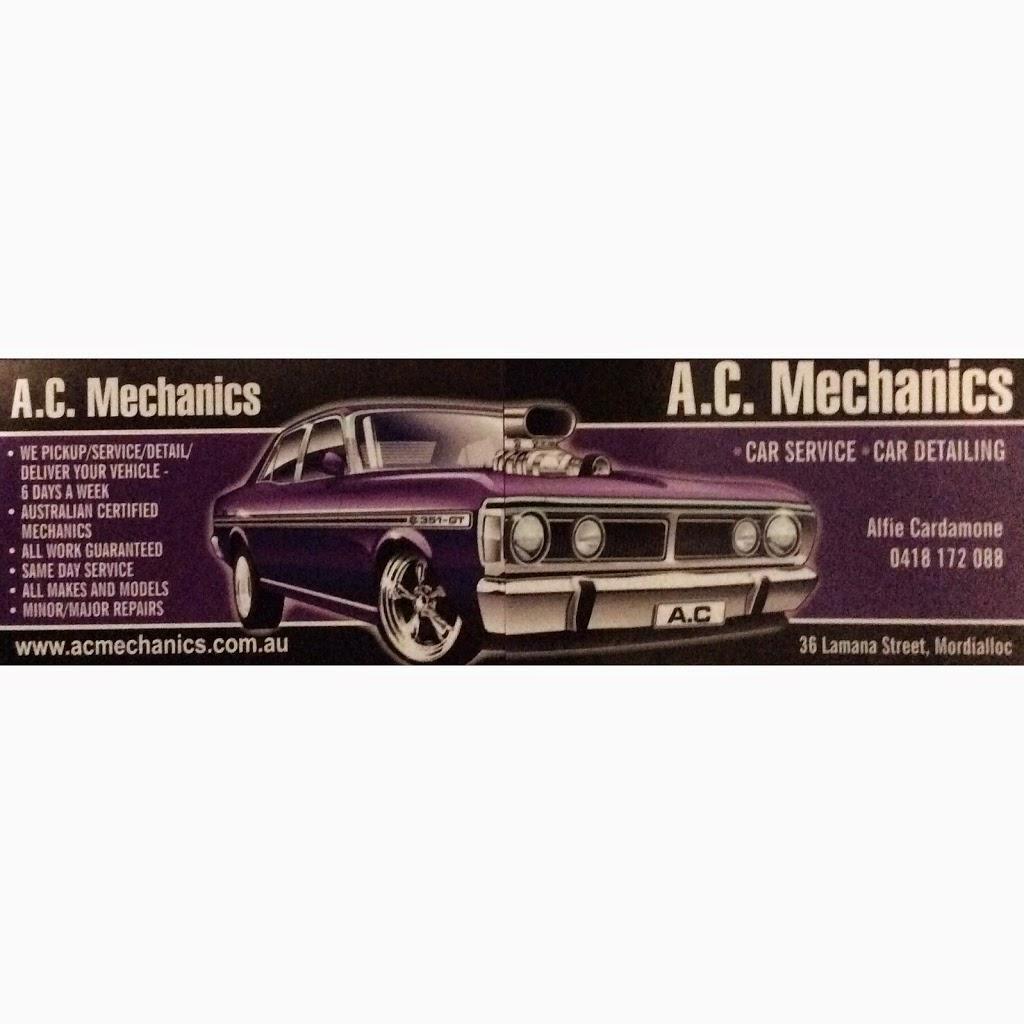 A.C. Mechanics   car repair   36 Lamana St, Mordialloc VIC 3195, Australia   0418172088 OR +61 418 172 088