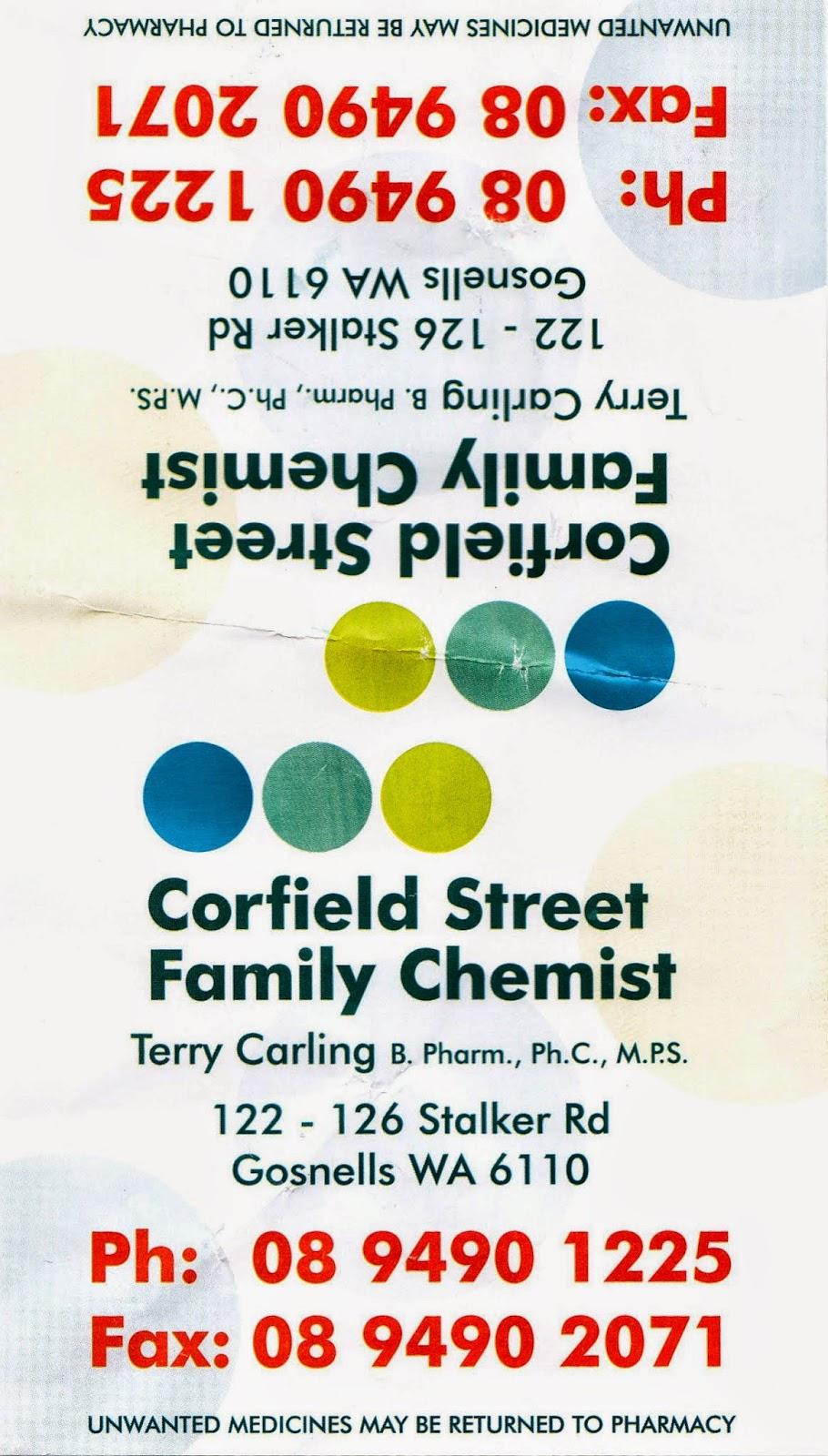 Corfield Street Family Chemist   pharmacy   122-126 Stalker Rd, Gosnells WA 6110, Australia   0894901225 OR +61 8 9490 1225