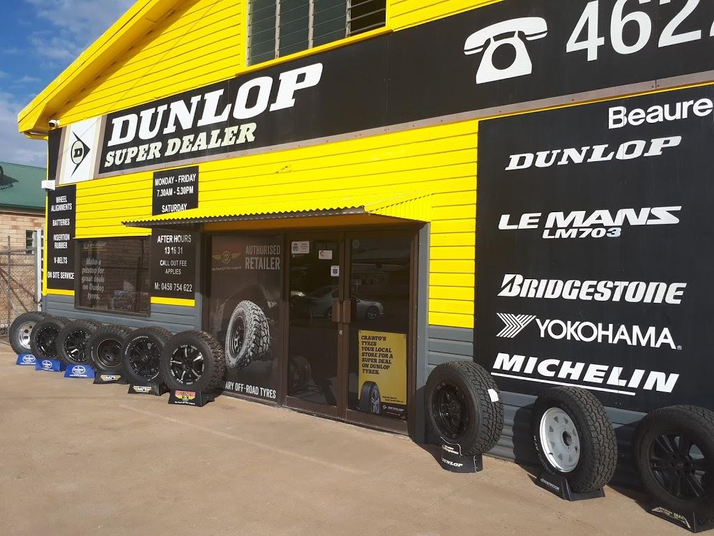 Crawfos Tyres | car repair | 90 Charles St, Roma QLD 4455, Australia | 0746222399 OR +61 7 4622 2399