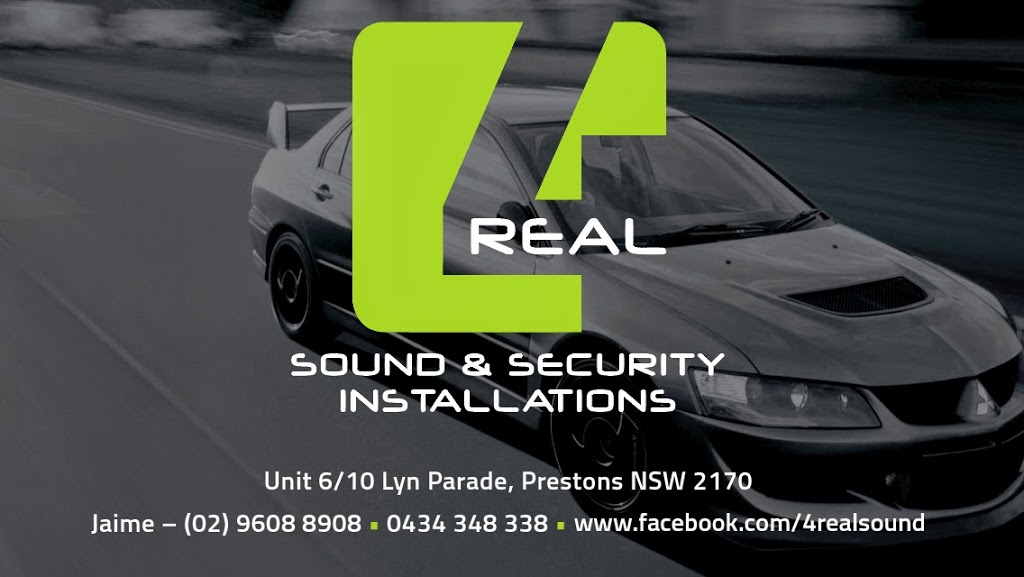 4Real Sound & Security | car repair | 6/10 Lyn Parade, Prestons NSW 2170, Australia | 0296088908 OR +61 2 9608 8908