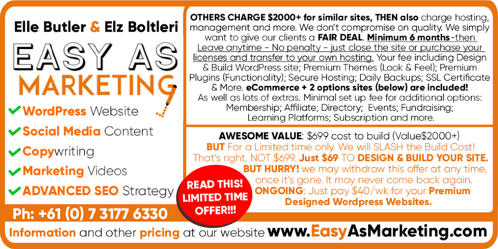Easy As Marketing   point of interest   56 Normanby St, Yeppoon QLD 4703, Australia   0731776330 OR +61 7 3177 6330