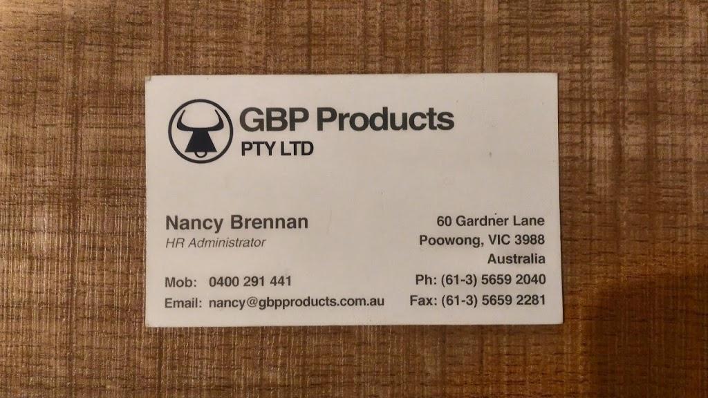 GBP Australia Pty Ltd | store | 60 Gardner Ln, Poowong VIC 3988, Australia | 0356592280 OR +61 3 5659 2280