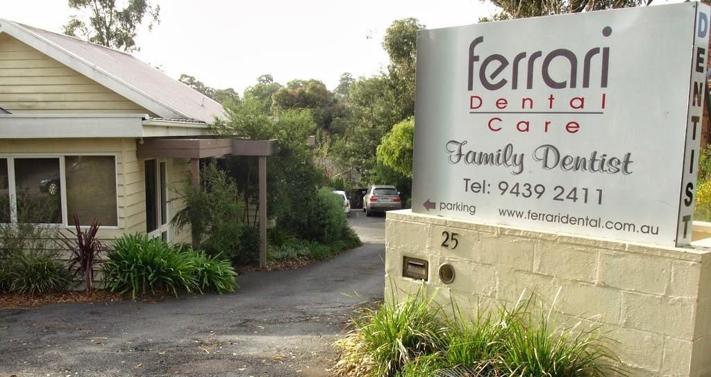 Ferrari Dental Care | dentist | 25 Luck St, Eltham VIC 3095, Australia | 0394392411 OR +61 3 9439 2411
