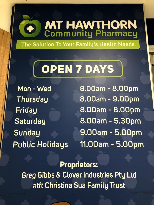 Mt Hawthorn Community Pharmacy | pharmacy | 16/148 Scarborough Beach Rd, Mount Hawthorn WA 6016, Australia | 0894441625 OR +61 8 9444 1625