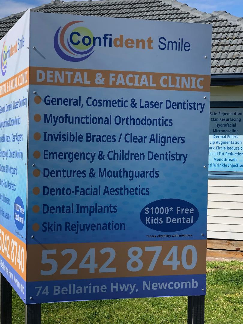 Confident Smile Dental & Facial Clinic | dentist | 74 Bellarine Hwy, Newcomb VIC 3219, Australia | 0352428740 OR +61 3 5242 8740