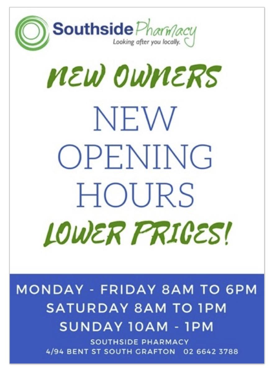 Southside Pharmacy | drugstore | 4/94 Bent St, South Grafton NSW 2460, Australia | 0266423788 OR +61 2 6642 3788