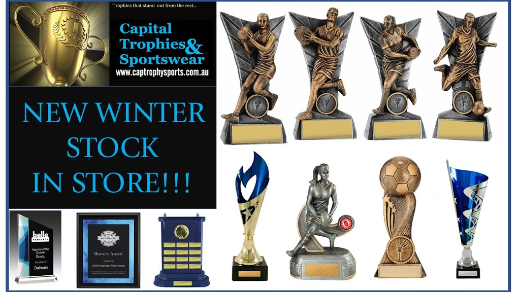 Capital Trophies & Sportswear | store | 7/81-101 Lysaght St, Mitchell ACT 2911, Australia | 0262416448 OR +61 2 6241 6448