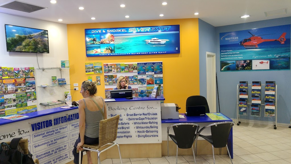 Visitor Information & Booking Centre | lodging | 2 Pier Point Rd, Cairns City QLD 4870, Australia | 0740314355 OR +61 7 4031 4355