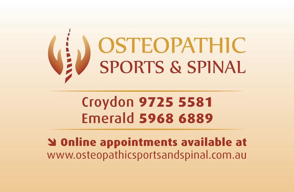 Osteopathic Sports and Spinal | health | 7 Chivers Ct, Warranwood VIC 3134, Australia | 0422525316 OR +61 422 525 316