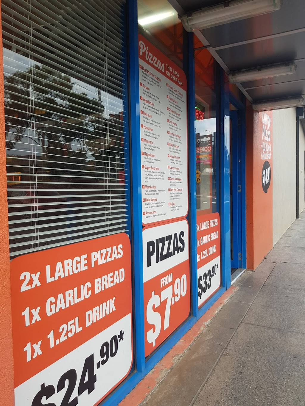 Big Brothers Pizza BULLEEN | meal takeaway | 30c/79-109 Manningham Rd, Bulleen VIC 3105, Australia | 0398521888 OR +61 3 9852 1888