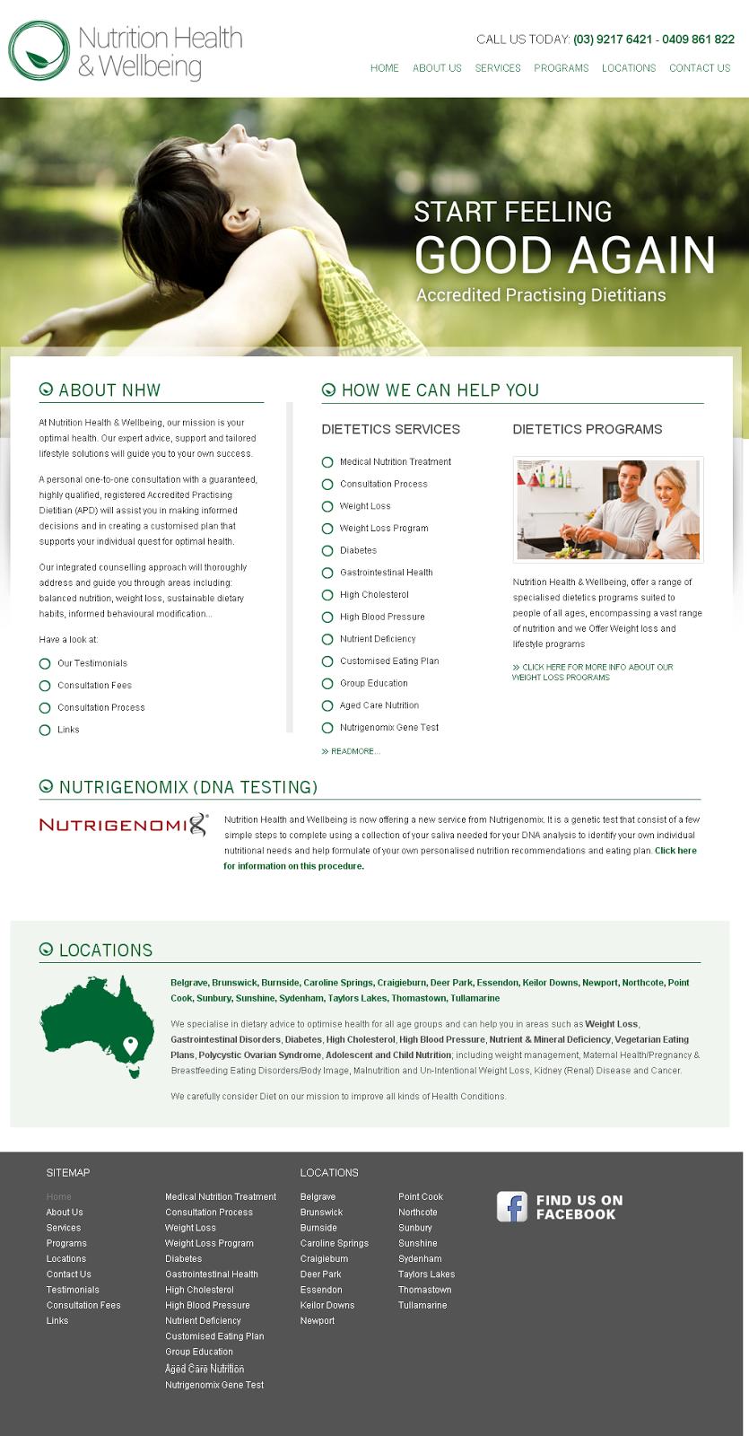 Nutrition Health & Wellbeing | hospital | 1592 Burwood Hwy, Belgrave VIC 3160, Australia | 1800313800 OR +61 1800 313 800