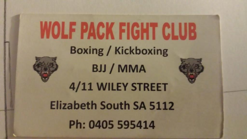 Wolf Pack Fight Club | gym | 4/11 Wiley St, Elizabeth South SA 5112, Australia | 0402620040 OR +61 402 620 040