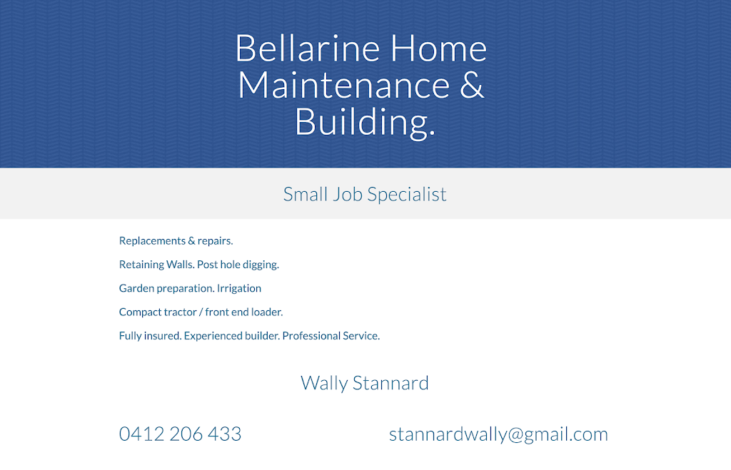 Wally Stannard | general contractor | Andale Ave, Curlewis VIC 3222, Australia | 0412206433 OR +61 412 206 433