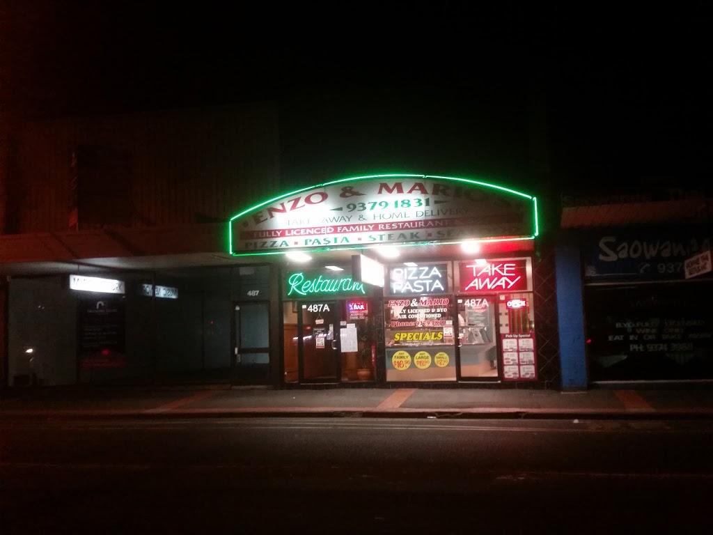 Enzo & Marios Pizza House   restaurant   487A Keilor Rd, Niddrie VIC 3042, Australia   0393791831 OR +61 3 9379 1831