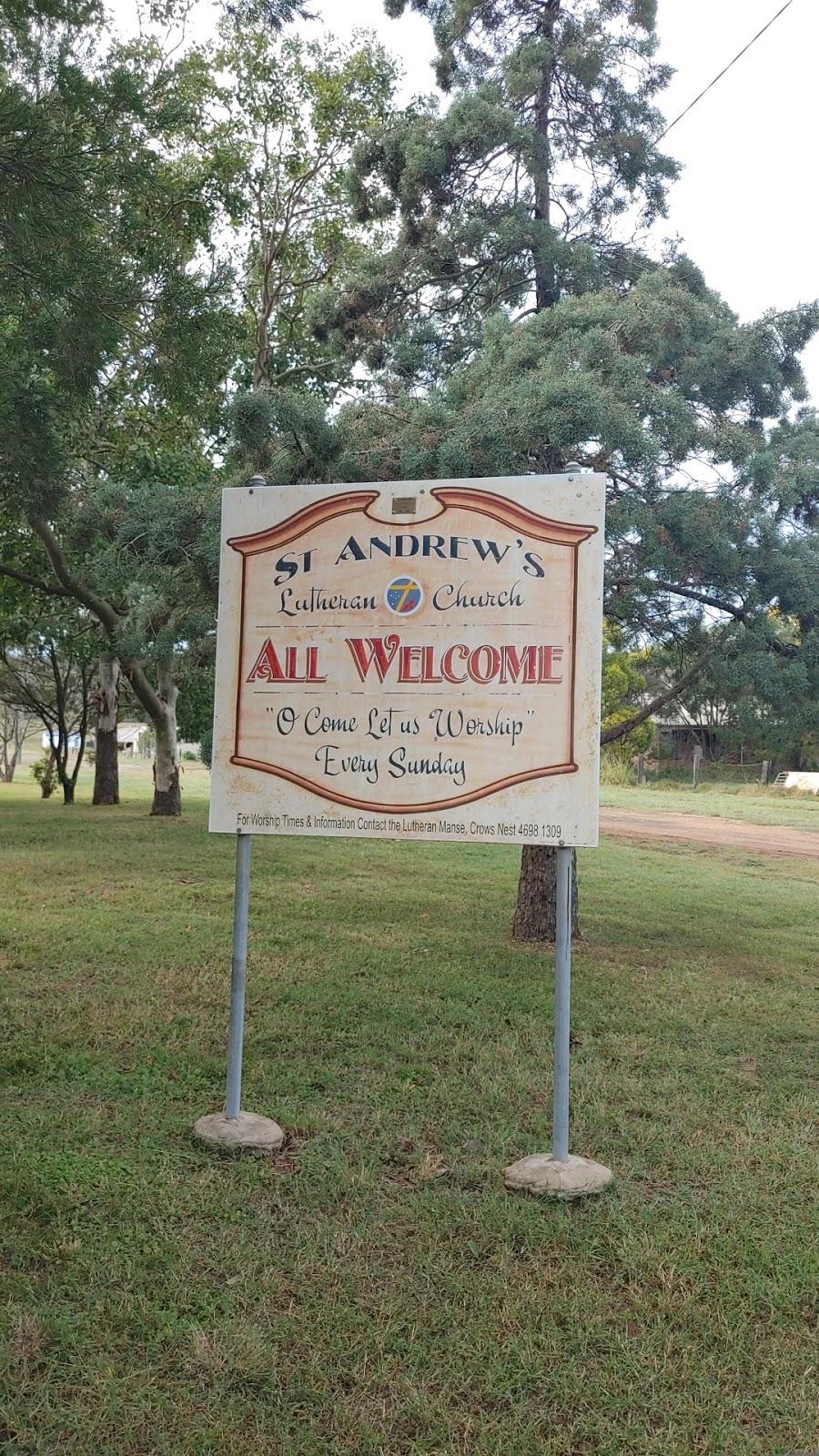 St. Andrews Lutheran Church | church | 17 Malcolm St, Cooyar QLD 4402, Australia | 0404067454 OR +61 404 067 454