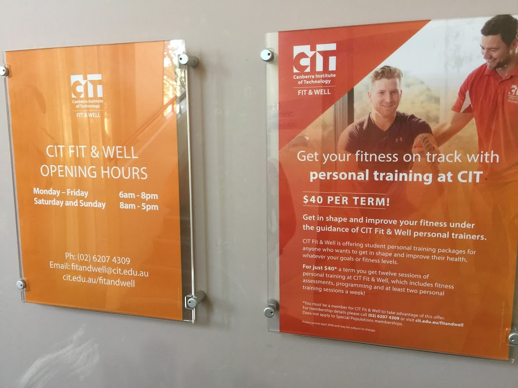 CIT Gym   gym   Bruce ACT 2617, Australia   0262074309 OR +61 2 6207 4309