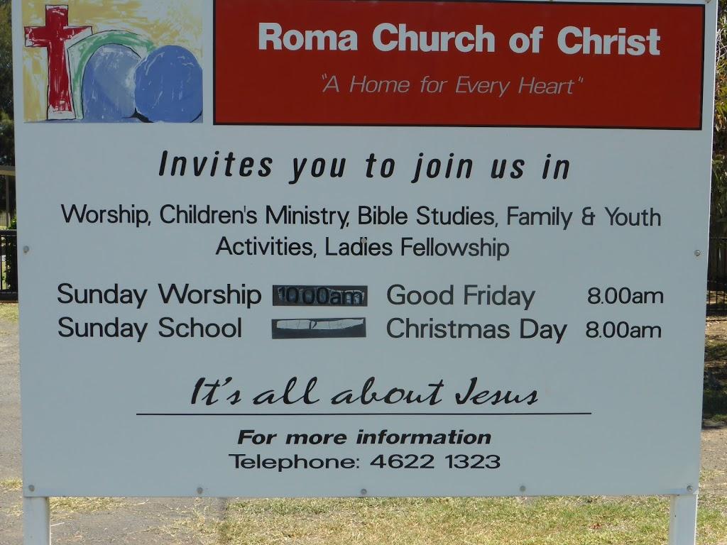 Roma Church of Christ | church | 119 Currey St, Roma QLD 4455, Australia | 0746221323 OR +61 7 4622 1323
