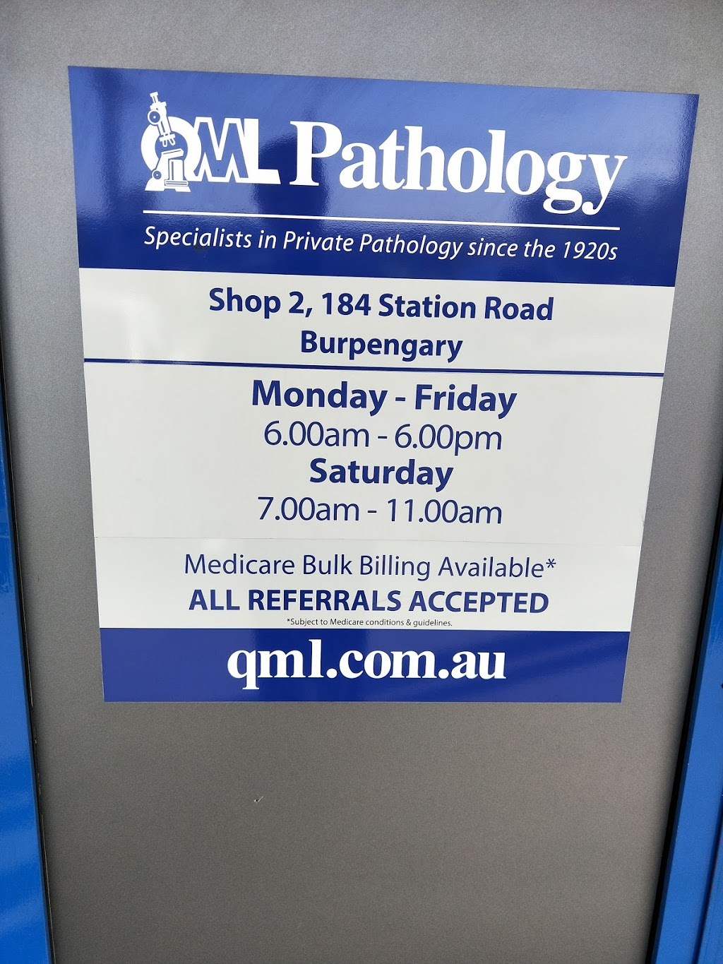 QML Pathology | doctor | 2/184 Station Rd, Burpengary QLD 4505, Australia | 0738888154 OR +61 7 3888 8154