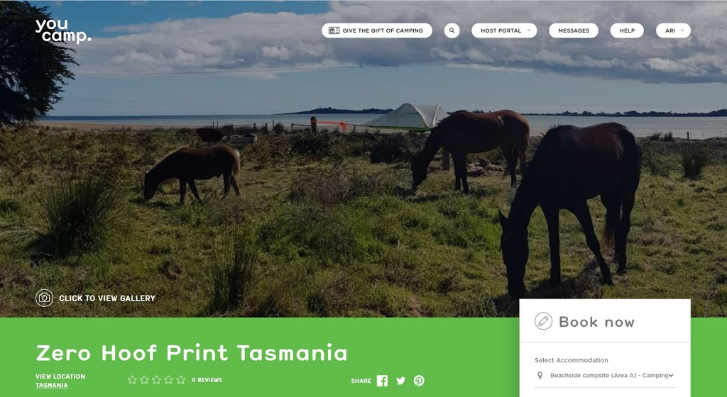 Zero Hoof Print - horse cafe & camping | cafe | 145A Foreshore Rd, Kelso TAS 7270, Australia | 0401717622 OR +61 401 717 622