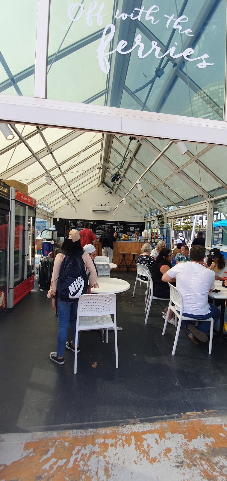 Off With The Ferries Cafe   cafe   131 Harbour Esplanade, Docklands VIC 3008, Australia   0395148959 OR +61 3 9514 8959