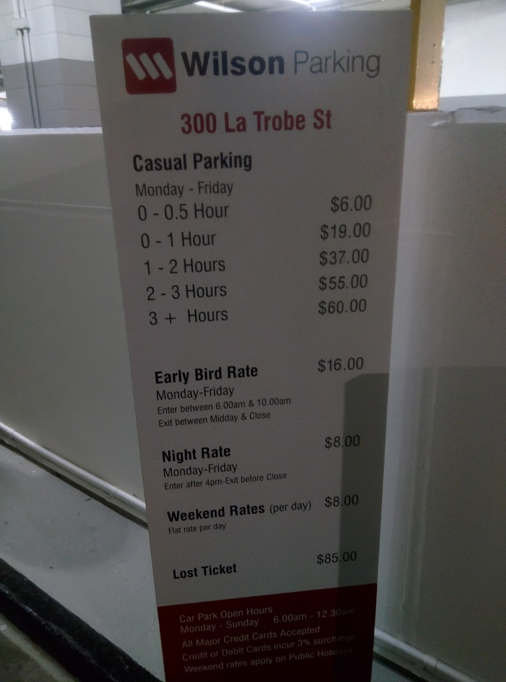 Wilson Parking - 300 La Trobe St   parking   300 La Trobe St, Melbourne VIC 3000, Australia   1800727546 OR +61 1800 727 546