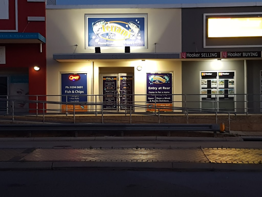 Ferraros Fish & Chips | meal takeaway | 8/1 Holmes St, Southern River WA 6110, Australia | 0893940691 OR +61 8 9394 0691