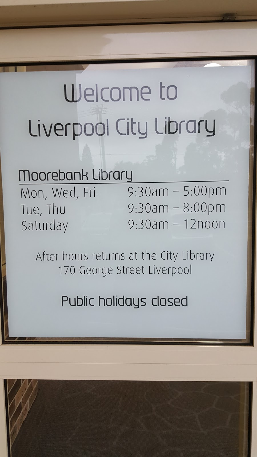 Moorebank Library | library | Nuwarra Rd &, Maddecks Ave, Moorebank NSW 2170, Australia | 0287117250 OR +61 2 8711 7250