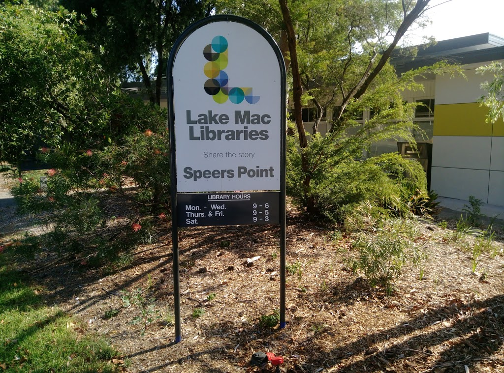 Speers Point Library | library | 139 Main Rd, Speers Point NSW 2284, Australia | 0249210493 OR +61 2 4921 0493