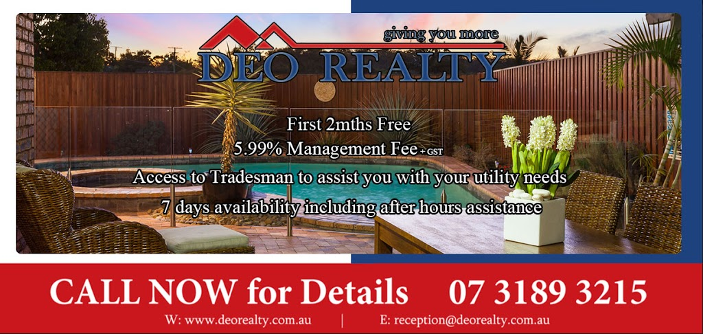 Deo Realty | real estate agency | 2 Juniper Cct, Stretton QLD 4116, Australia | 0731893215 OR +61 7 3189 3215