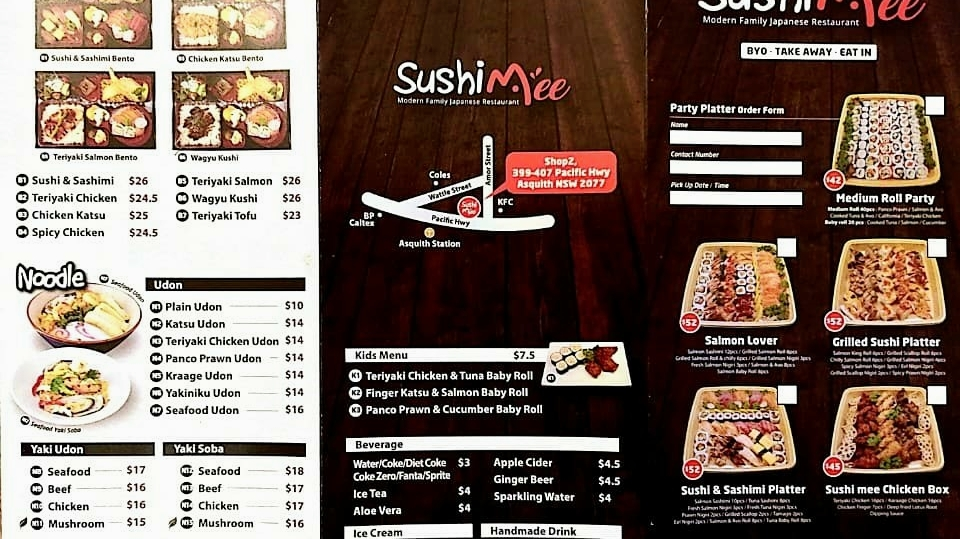 Sushimee | restaurant | Shop2, Japanese restaurant, 399-407 Pacific Hwy, Asquith NSW 2077, Australia | 0294776399 OR +61 2 9477 6399