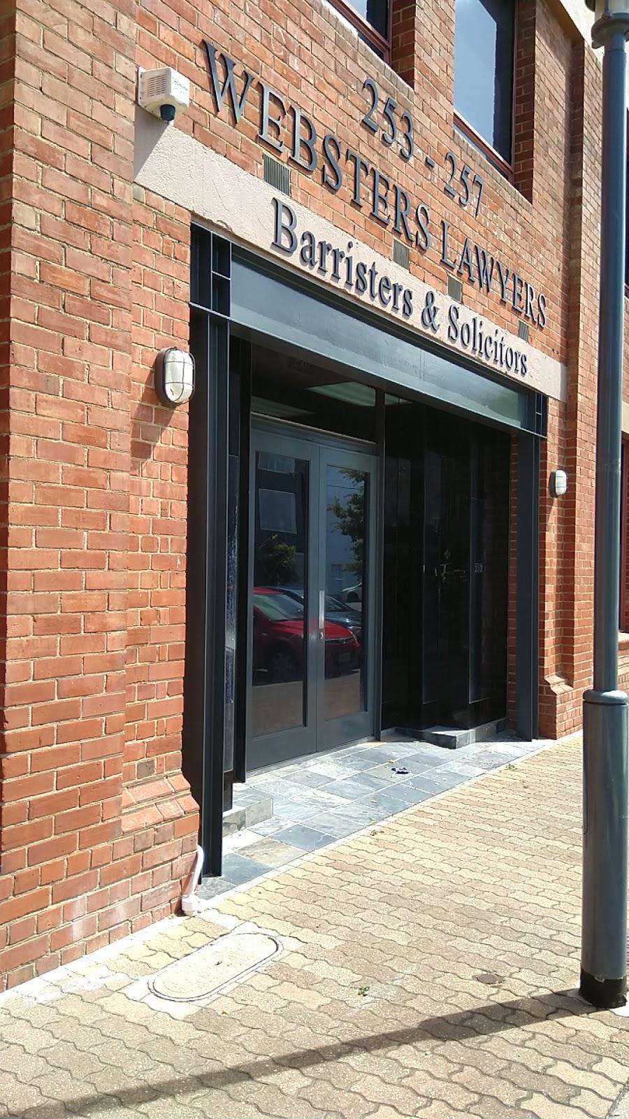 Websters Lawyers | lawyer | 253/257 Sturt St, Adelaide SA 5000, Australia | 0882311363 OR +61 8 8231 1363